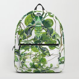 Evergreen Hawk Moth, Seaweed, Algae, and Orchids Backpack