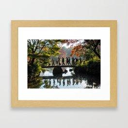 Japanese Park in Autumn Framed Art Print