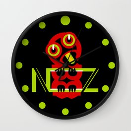 Hei Tiki New Zealand Wall Clock