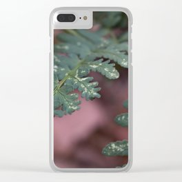 Detailed Leaves Clear iPhone Case