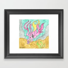Shell Diving Framed Art Print