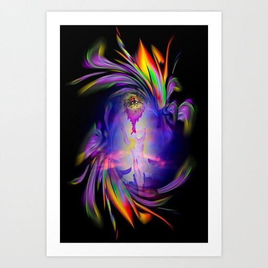 Flowermagic - good luck Art Print