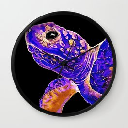 Night Time Sea Turtle Wall Clock