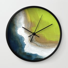Surf Abstraction Wall Clock
