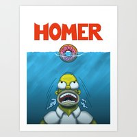 homer Art Prints featuring HOMER by BC Arts