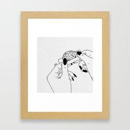 Rolling your mind. Framed Art Print