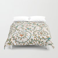 medieval Duvet Covers featuring Medieval pattern. by Monochrome Lace