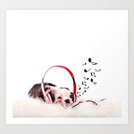 Musical Dog Art Print