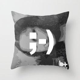 Mona's Smile Throw Pillow