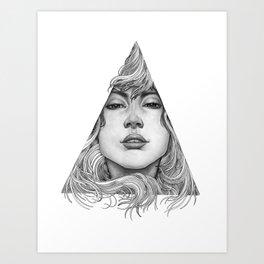 Triangle Portrait Art Print