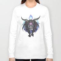 baphomet Long Sleeve T-shirts featuring Baphomet V2 by Savannah Horrocks