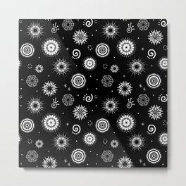 White Mandalas Metal Print