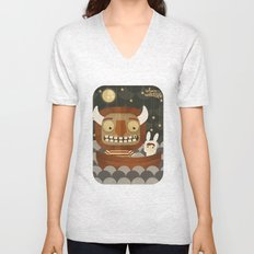 Where the wild things are fan art Unisex V-Neck