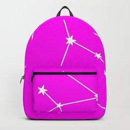 Gemini (White & Magenta Sign) Backpack