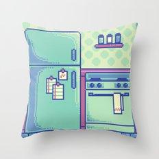 Pixel Kitchen Throw Pillow