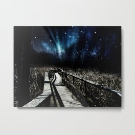 Hearts Floating Up to the Stars Metal Print