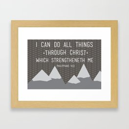 I CAN // Philippians 4:13 Framed Art Print