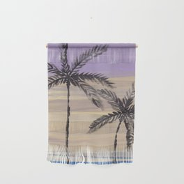 two palm trees euphoric sky Wall Hanging