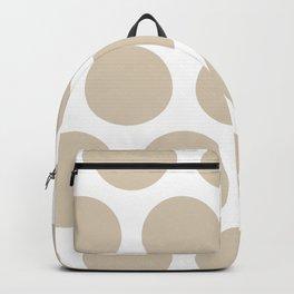 Large Polka Dots: Beige Backpack