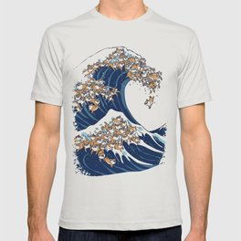 The Great Wave of Shiba Inu T-shirt