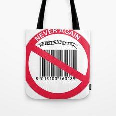 Olocausto Never Again Tote Bag
