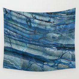 Ocean Depths Blue Marble Wall Tapestry
