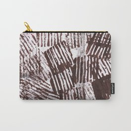 Brown abstract Carry-All Pouch