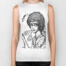 your a pothead harry Biker Tank