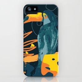 Toucan bird in the night iPhone Case