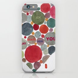VALENTINE, my heart beats for you iPhone Case