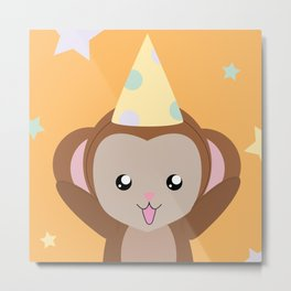Party Monkey Metal Print