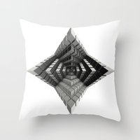 cyberpunk Throw Pillows featuring Time vs. Monolith by Obvious Warrior