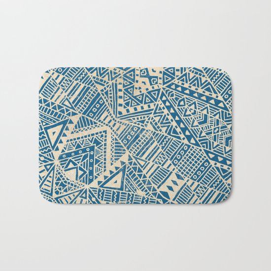 Tribal (blue)  Bath Mat