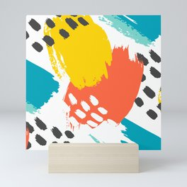 Scribble Paint Pattern Decoration Mini Art Print