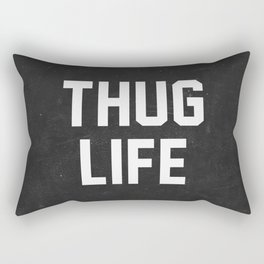 Thug Life - black Rectangular Pillow