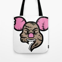 piglet Tote Bags featuring Zombie Piglet by Kojó Tamás