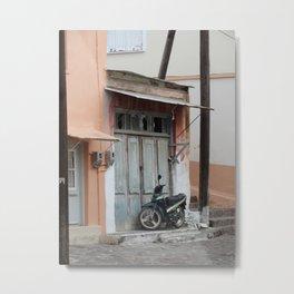 Up the Street and Around the Corner Metal Print