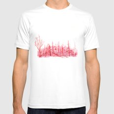 Sanguine Copse MEDIUM Mens Fitted Tee White
