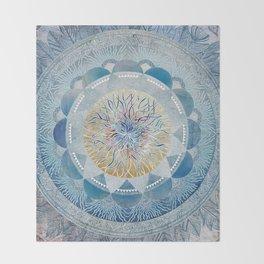 Winter's Thaw Mandala Throw Blanket