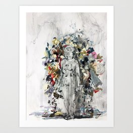 Burdened by our Trash Art Print