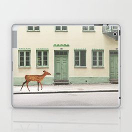 Deer in town Laptop & iPad Skin