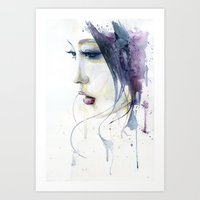 silent Art Prints featuring Silent by Cora-Tiana