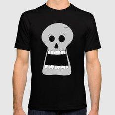 Halloween Skull MEDIUM Mens Fitted Tee Black