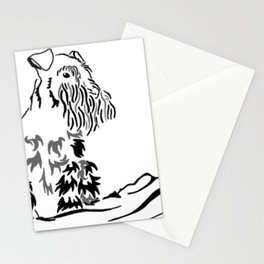 Schnauzer Tribal Stationery Cards