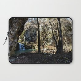 Alone in Secret Hollow with the Caves, Cascades, and Critters - First Glimpse of the Falls Laptop Sleeve