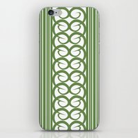striped iPhone & iPod Skins featuring Striped by Panda