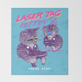 Laser Tag Kitten 2 Throw Blanket