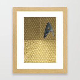 Energize - Gold Shirt Framed Art Print