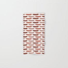 Cute vector sausages cartoon. Seamless repeat pattern illustration Hand & Bath Towel