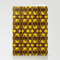 yellow pattern Stationery Cards featuring yellow pattern by dedoma